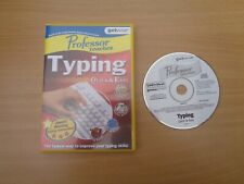 Professor Teaches Typing Quick & Easy - PC CD ROM