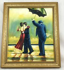 Original Framed Oil Painting After Jack Vettriano The Singing Butler Modern Art