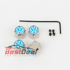 Car Anti Theft Valve Dust Caps Alloy Wheel decoration Metal For VW Golf Passat