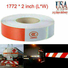 """2""""x150 Dot-C2 PREMIUM Reflective Red and White Conspicuity Tape Trailer NEW USA"""