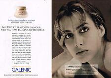 PUBLICITE ADVERTISING 025  1993  GALENIC  cosmétiques ( 2p)
