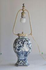Delft - Lampe en faïence du XVIIIème siècle - Signée