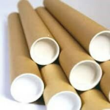 """50 X POSTAL TUBES CHEAPEST OFFER (A1 50mm X 630mm  2"""" X 13"""" )WITH CUP ENDS"""