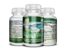 Spirulina Organica 100 Tabletas 500MG, alga spirulina 100% pura y organica