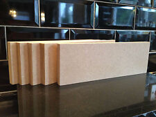 5 High Quality MEDITE 18mm Freestanding Blank Wooden Plaque Blocks 12x4""