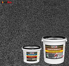 Buntsteinputz SET Mosaikputz BP 100 (anthrazit) 25 kg + Quarzgrund 4 kg