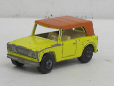 Field Car ohne Zughaken in gelb, Matchbox Nr.18, o.OVP, L: 6,5 cm