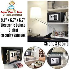Electronic Digital Safe Box Steel Money Jewelry Document Storage Keypad Lock 9