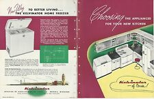 VTG 1949 KELVINATOR Kitchen Appliances Catalog RETRO Range Oven Refrigerator