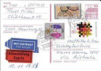 CLB63) Nice W. Germany 1983 Card German Customs, Fed State Gov.'s, Christmas