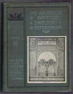 Architecture: 1910; Architects & Surveyors Directory & Referendum. Building etc.
