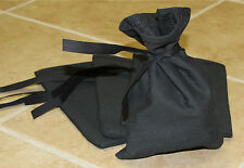 Black Canvas Blank Money Bag Bank Deposit Transit Coin Sack Bag 6.5x9.5""