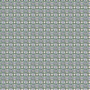 1:12th Green And Yellow Cross Design Tile Sheet With White Grout