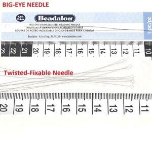 Beading Needle Twisted Fixable Needle,Big-Eye Needle.