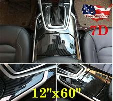 7D Accessories Stickers Carbon Fiber Vinyl Film Car Interior Wrap Stickers Trim