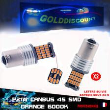 KIT 2 p21w led canbus anti erreur odb 45 smd orange clignotant *
