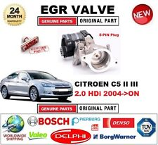 FOR CITROEN C5 II III 2.0 HDi 2004-> Electric EGR VALVE 5-PIN with GASKETS/SEALS