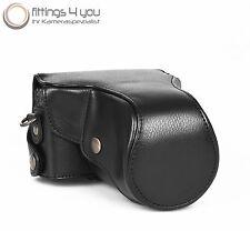 Case Pouch Leather for Nikon 1 J1 J2 J3 J4 30-110mm black Nikon1