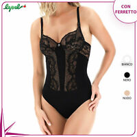 BODY LEPEL 704 A A BALCONCINO CON FERRETTO COPPA C IN PIZZO