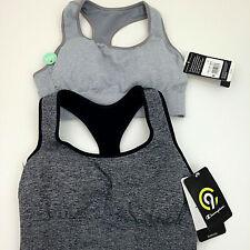 2 C9 Champion Sports Bras Womens XS Light Gray Dark Gray Med Support Lot NEW