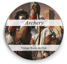 Bow Crossbow Longbow Learn Archery - Rare Books on DVD - Quiver String Arrow B5