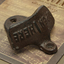 New Cast Iron Vintage Rustic Style Collectable Wall Mounted Beer Bottle Opener