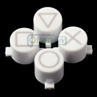 Solid White Action Marked Buttons Replacement Parts for Sony PS4 Controller
