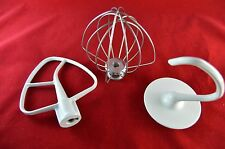 KITCHENAID KSM150 Artisan Mixer Set - Flat Beater, Wire Whip, Dough Hook New