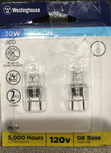 Westinghouse 20 watts T4 Halogen Bulb 175 lumens White  Decorative  2 pk