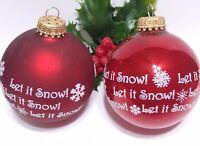 KREBS Vintage Christmas Ornament lot of 2 Mercury Glass Balls RED Mica