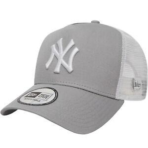 New Era Youths New York Yankees A-Frame 9Forty Trucker Cap - Grey - 6-12 Yrs
