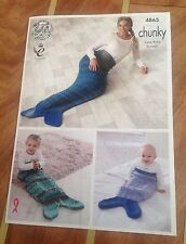 King Cole Chunky Knit Knitting Pattern For Mermaid/Fish Tail - 4865