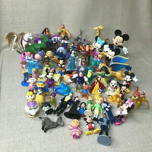 DISNEY PIXAR Lot of 54 Toy Figures - Mickey, Princesses, Cartoon Characters