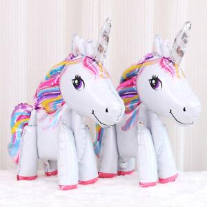 1Pc Magical Unicorn Fairytale Birthday Party Tableware Decor Balloons Supplies