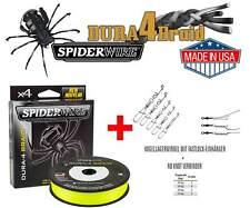 200m Spiderwire® Dura4Braid Yellow 15 kg + 10 Teile Set Not a Knot + BB-Wirbel