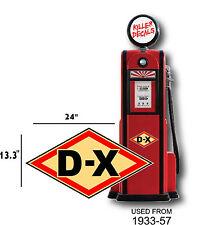 """(DX-1) 24"""" DX D-X GAS PUMP OIL TANK DECAL"""