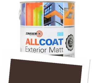 Zinsser Allcoat Exterior 15 Year Protection WB Tintable RAL8017 Brown Matt 1L