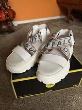 buffalo Bo Platform Sandal Nappa Leather White