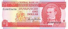 Barbados  $1  ND. 1973  P 29a  Series F Uncirculated Banknote NCA517j