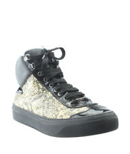 2968aca73d8 Jimmy Choo Black   Cream Snakeskin Sneakers