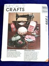 UNCUT MCCALLS # 7399 SEW ORGANIZED SEWING PATTERN GREAT GIFTS FOR SEAMSTRESS