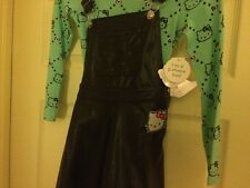 Hello Kitty Pleather Jumper Set True Black Girls 4-6X