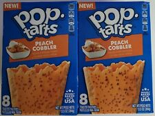 NEW Pop Tarts Toaster Pastries Peach Cobbler Flavor 16 Count FREE WORLD SHIPPING