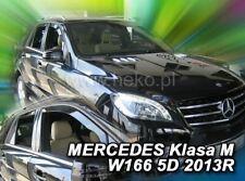 4 Deflettori Aria Antiturbo Mercedes-Benz Classe M W166 2011 in poi 5 porte