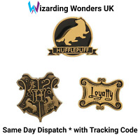 Official Harry Potter Enamel Pin Badge Set Hufflepuff Hogwarts Crest Gift