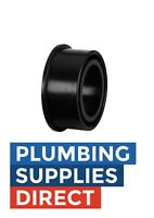 "* Waste SW82 Boss Pipe Connector in Solvent Weld 55mm 2"" Waste Adapter Black"