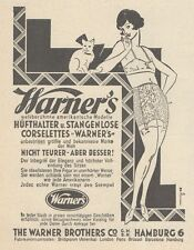 Y6796 WARNER'S Hufthalter Corselettes -  Pubblicità d'epoca - 1929 Old advert