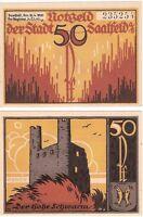 Germany 50 Pfennig 1921 Notgeld Saalfeld UNC Uncirculated Banknote