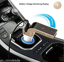 Wireless Bluetooth FM Transmitter Kit For Car MP3 Music Player Radio & USB Port