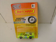 1993 MATCHBOX SUPERFAST MB 35 LIME PONTIAC STOCK CAR 15 SEASIDE NEW ON CARD
